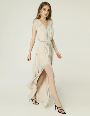 GRETA DRESS - LIGHT BEIGE