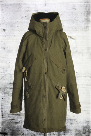 parka out of tent