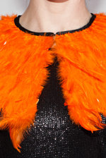 Orange feather collar
