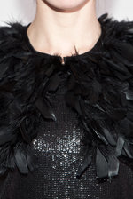 Black feather collar