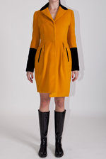 Mustard padded coat