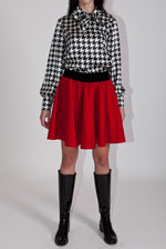 Houndstooth check blouse