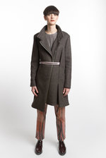 Coat grey wool