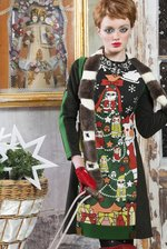 Xmas tree print manekineko glamour dress