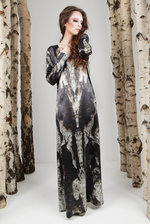 Long Silk Dress - CORTEX