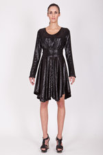 Sequined black little dress
