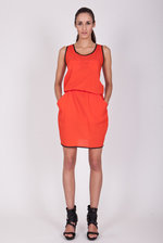 Orange sporty dress