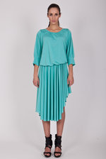 Mint asymmetrical dress