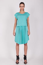 Mint dress with short sleeves