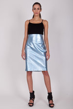Metallic pencil skirt