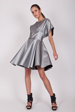 Oversize metallic dress