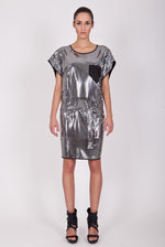Metallic lama dress