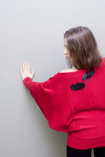 Red oversized bathands sweater