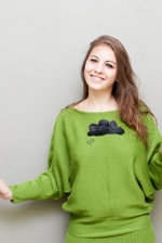 Green oversized bathands sweater