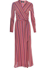 Wrapdress Missoni Style red in long