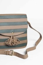 Green Striped Shoulder Bag