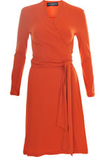 Wrapdress in Orange