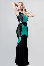 C/Rexclusive Mosaic Evening Dress