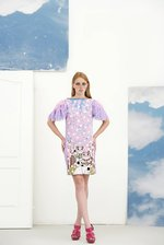Lilac cherry tree print DRESS