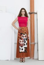 sheer tulle  RUST MAXI SKIRT