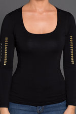 Kendall Long Sleeve Black Shirt