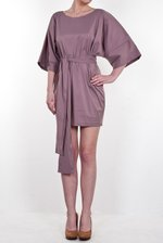 Heather tunic with belt BASIC