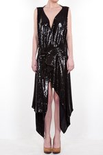 Sequined wrap dress