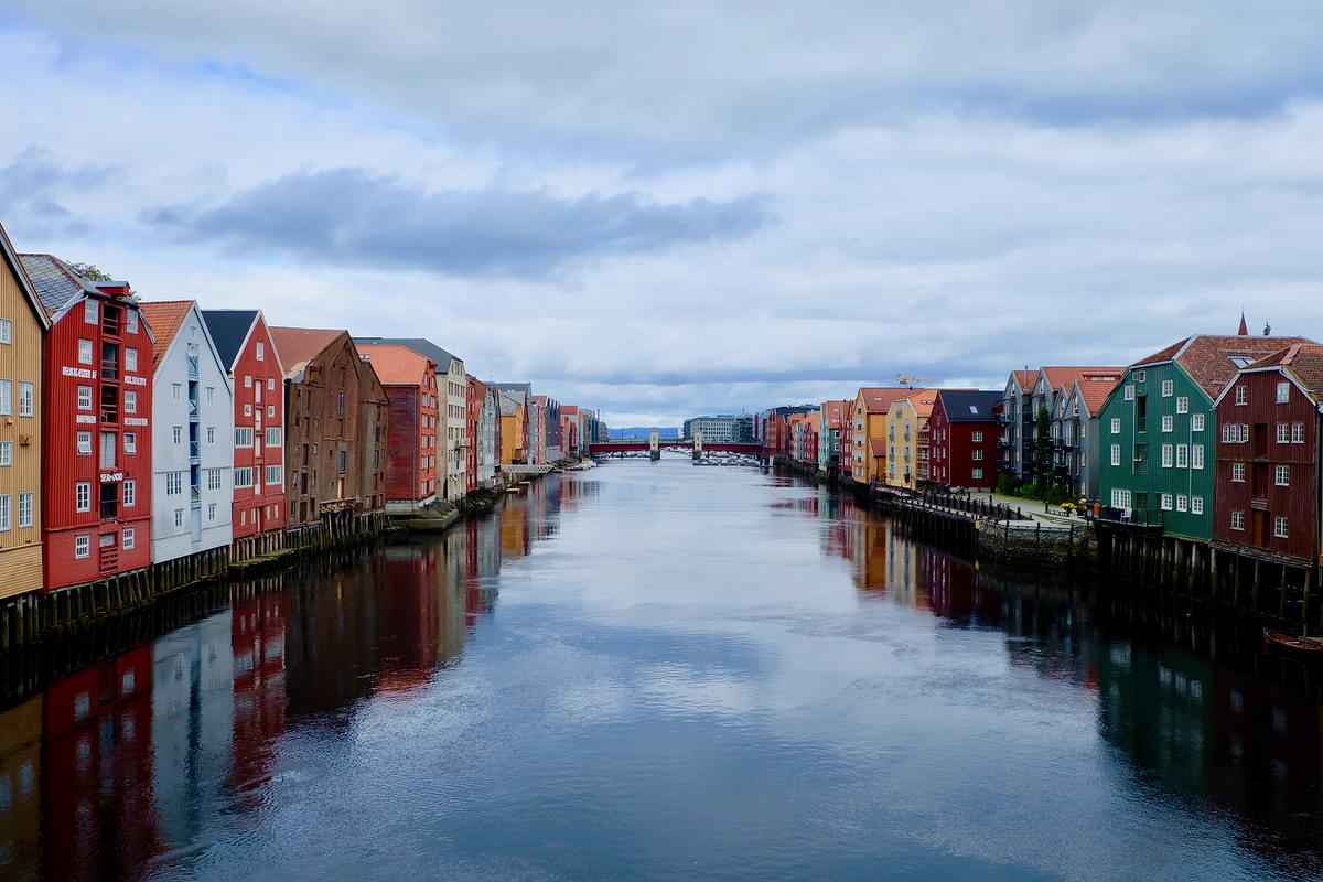 норвегия. тронхейм