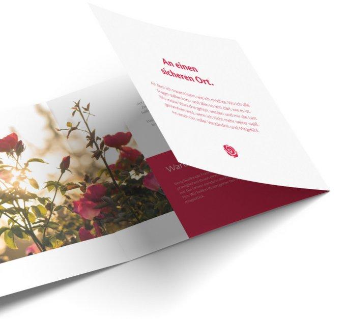 ROSENGARTEN Tierbestattung Flyer Broschüre Infomaterial