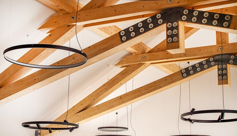 Holzbalken, Lampen, rustikal, Massivholz