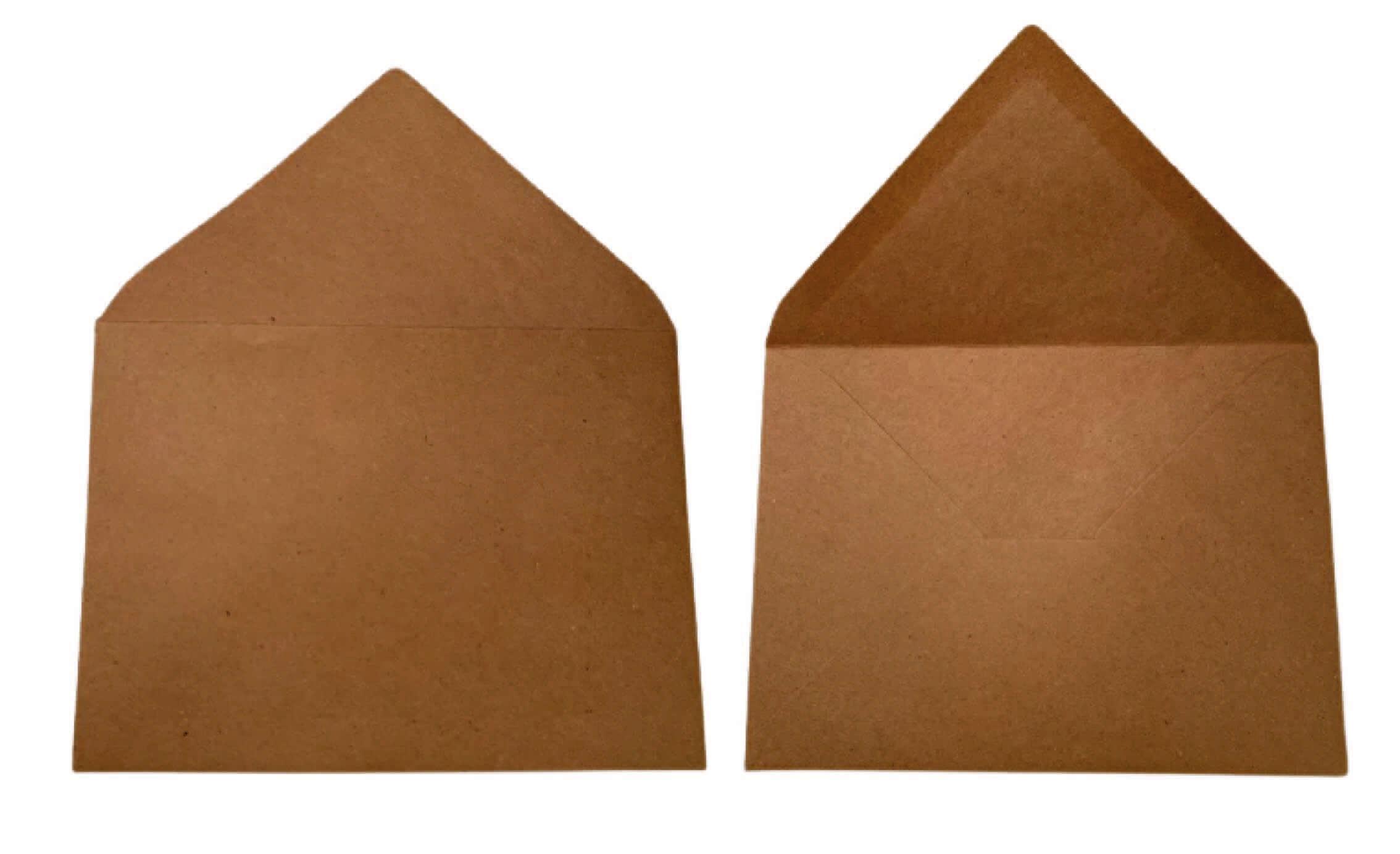 """מעטפות להזמנות בגודל 18.5X13.5 ס""""מ,דגם קראפט"""