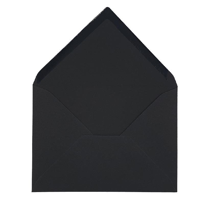 """מעטפות להזמנות בגודל 18.5X13.5 ס""""מ,דגם שחור עמוק"""