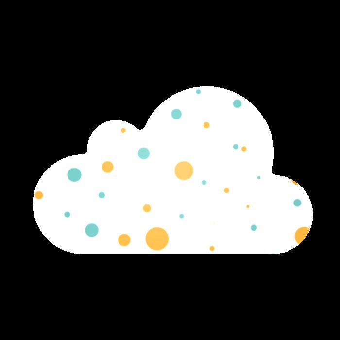 מדבקות בחיתוך צורני, 5x5 ס״מ, דגם ענן