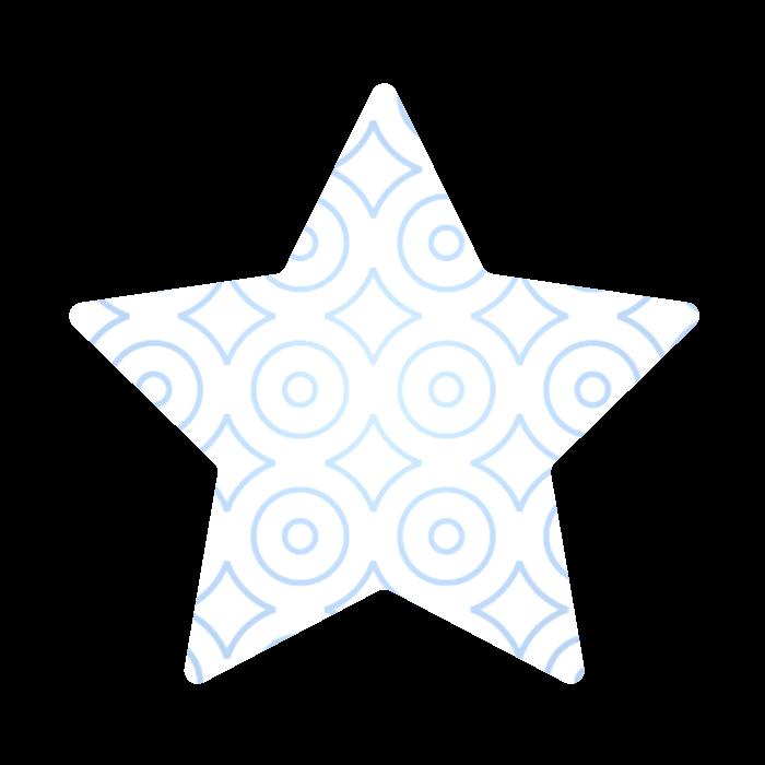 מדבקות בחיתוך צורני, 5x5 ס״מ, דגם כוכב