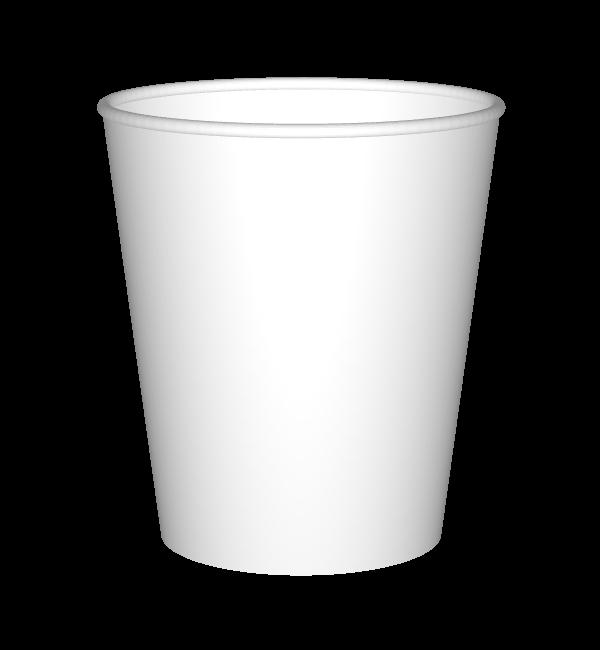 כוסות ממותגות  בעיצוב אישי, גודל 8 אוז, דגם דף נקי