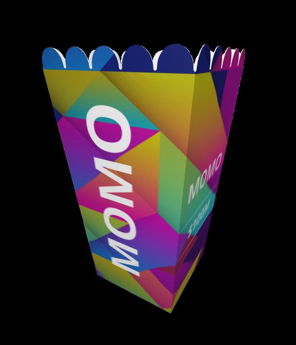קופסאות פופקורן בעיצוב אישי, דגם מומו