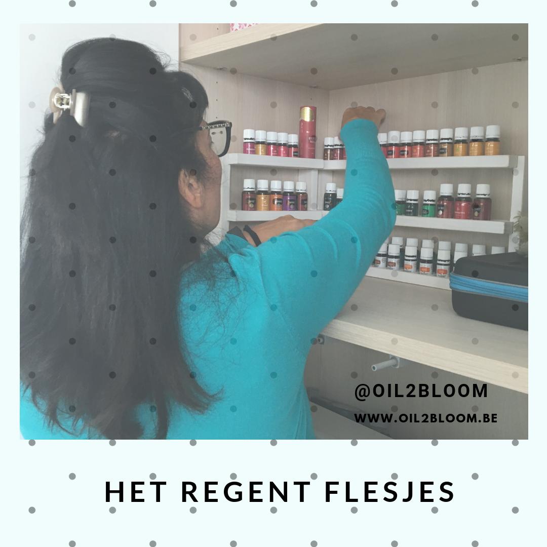 het regent flesjes - ja essentiele olie flesjes