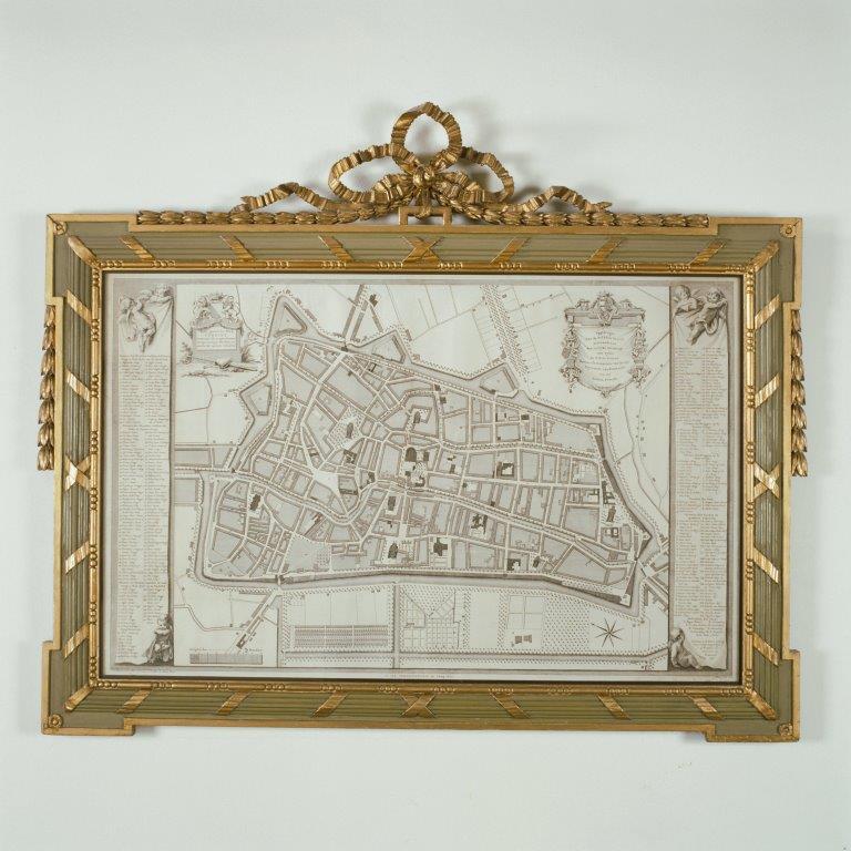 Gang - Plattegrond stad Utrecht, 1778 gegraveerd door Reinier Vinkeles