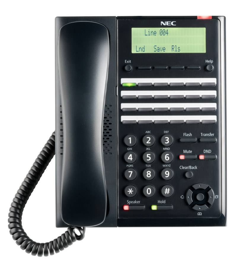 NEC Aspire IP1NA-DSLT 0890047 Black 2 Button Digital Telephone