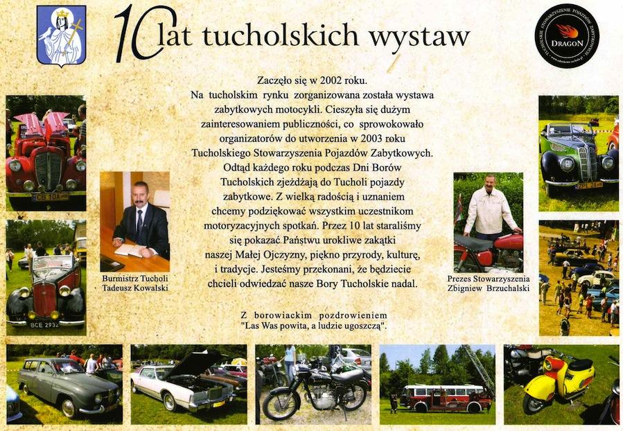 10 lat tucholskich wystaw pojazdów zabytkowych