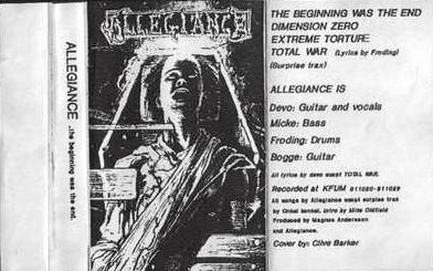 Allegiance - The Beginning was the End (demo)