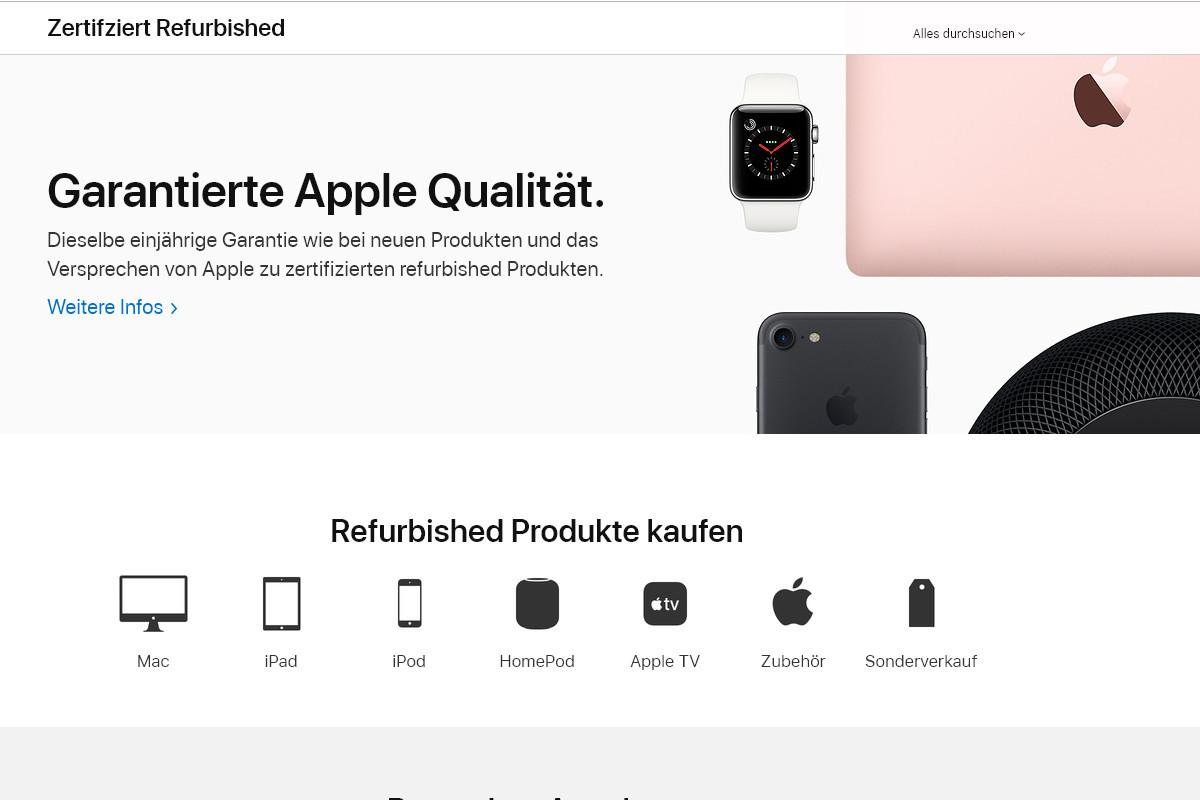 Im Apple Store ist die Auswahl an generalüberholten Produkten nicht schlecht und die Qualität stimmt auch.