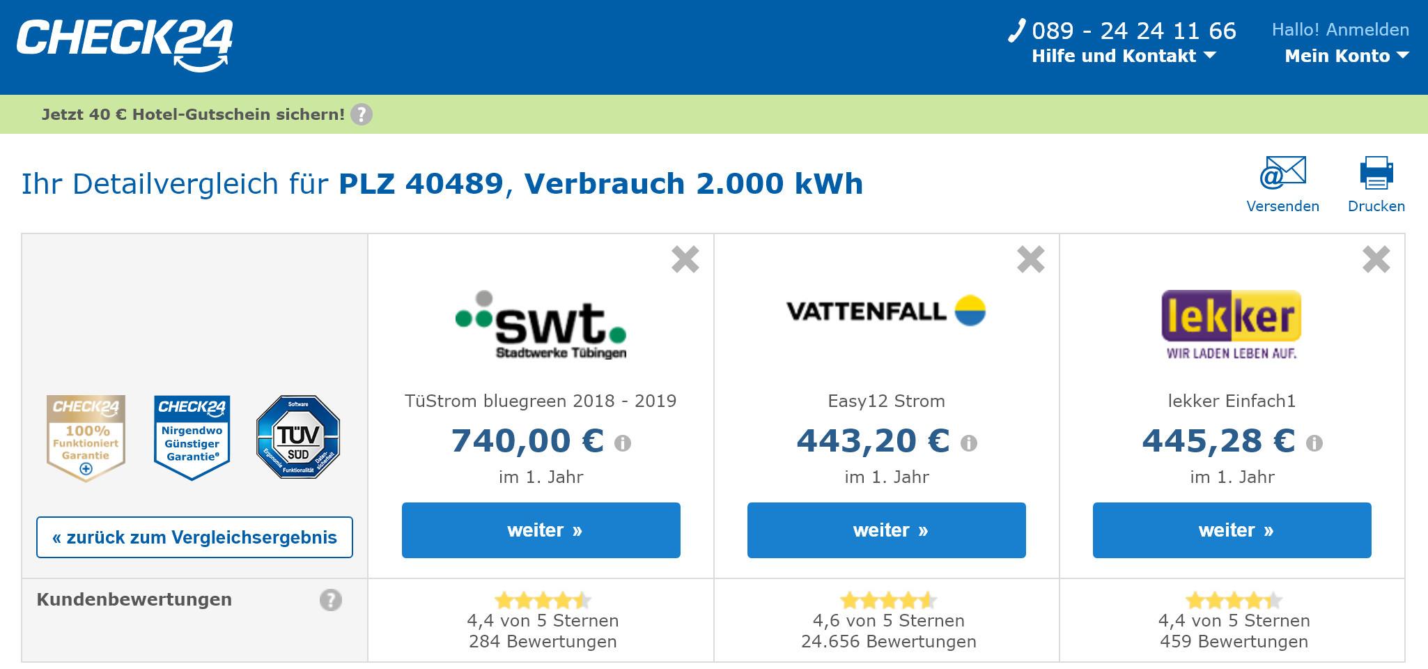 Selbst als Single kann sich ein Anbieterwechsel lohnen. Allein beim Strom sind rund 300 Euro Ersparnis pro Jahr drin.