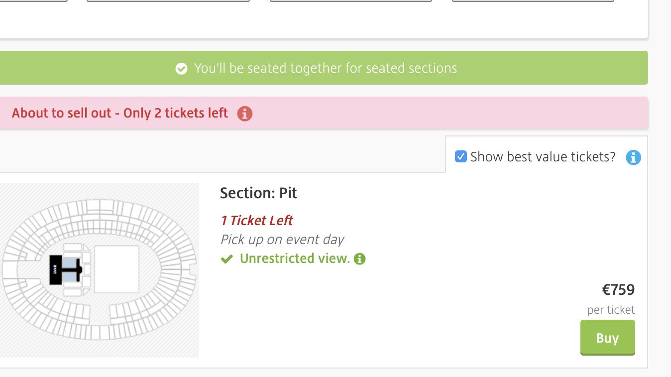 Rolling-Stones-Ticket für das Berlin-Konzert am vergangenen Wochenende auf Viagogo.com