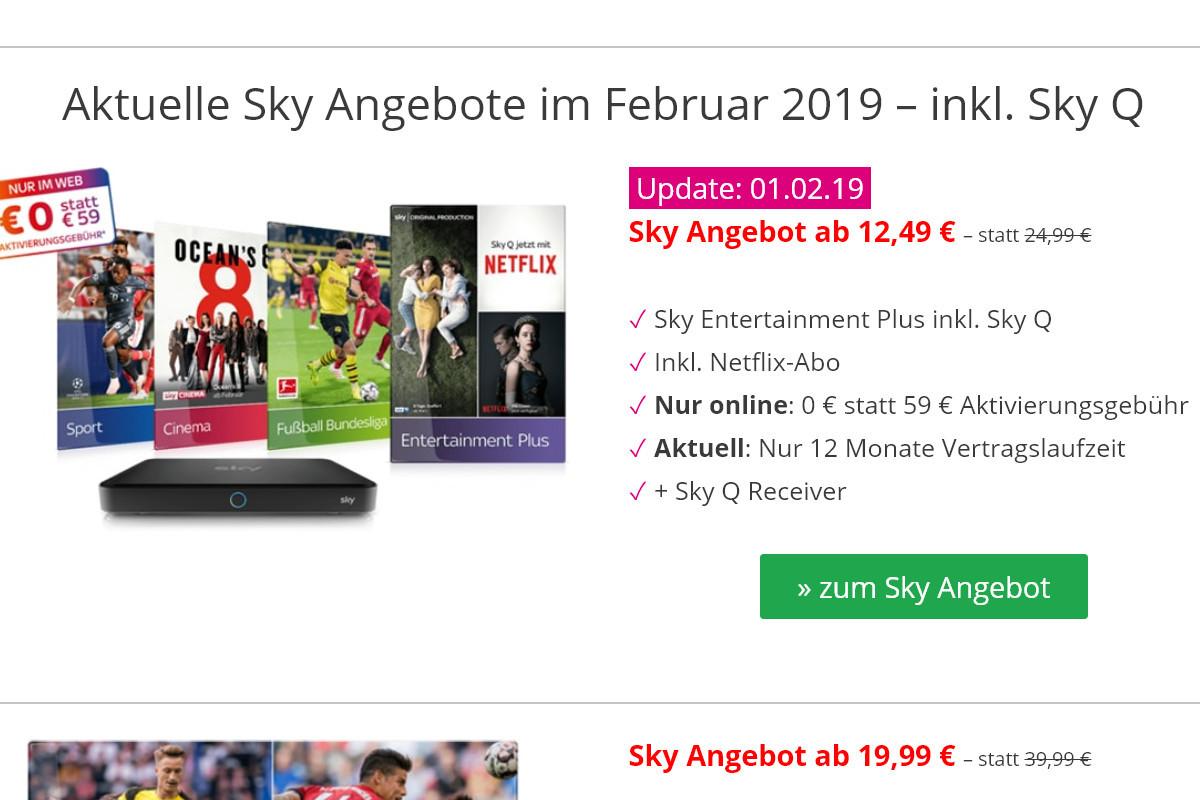 Für Neukunden bietet Sky immer wieder attraktive Pakete an.