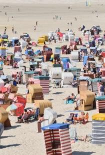 Urlauber Am Strand