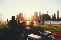 Freunde Treffen Sich Im Park