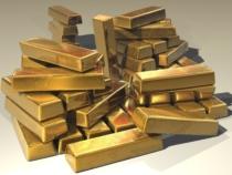 Goldbarren Haufen