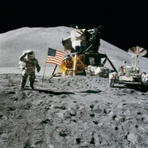 American flag astronaut astronomy 39896