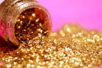 Goldener Glitter